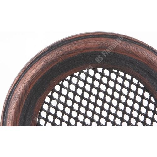 Krbová mřížka kulatá 160mm měděná patina