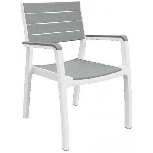 KETER HARMONY zahradní židle, 58 x 58 x 86 cm, bílá/šedá
