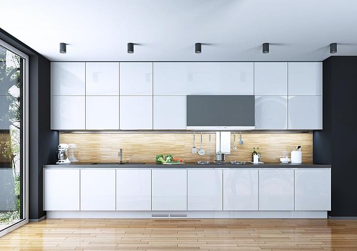 Kuchyň na míru se spotřebiči vkusně vestavěnými do sektorového nábytku (Zdroj: Depositphotos)