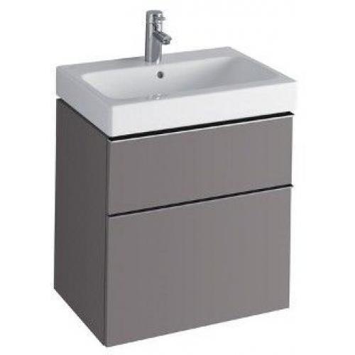 KERAMAG Icon skříňka pod umyvadlo, závěsná 59,5 x 62 x 47,7 cm platinová lesklá