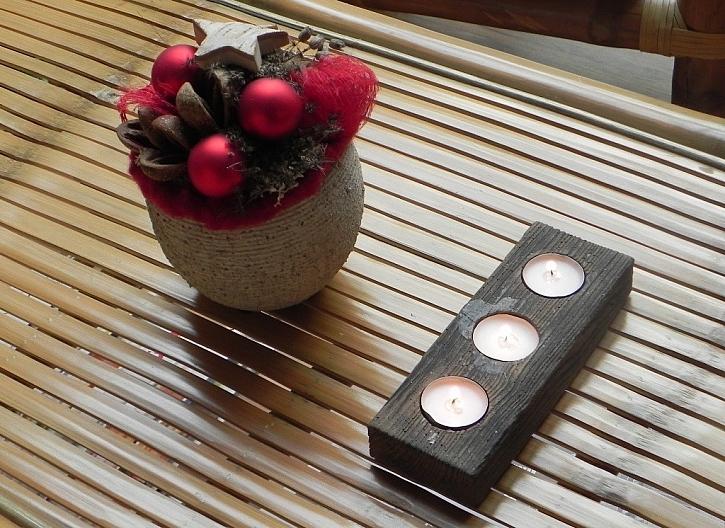 Zajímavý svícen jako tečka nejen na vánoční stůl