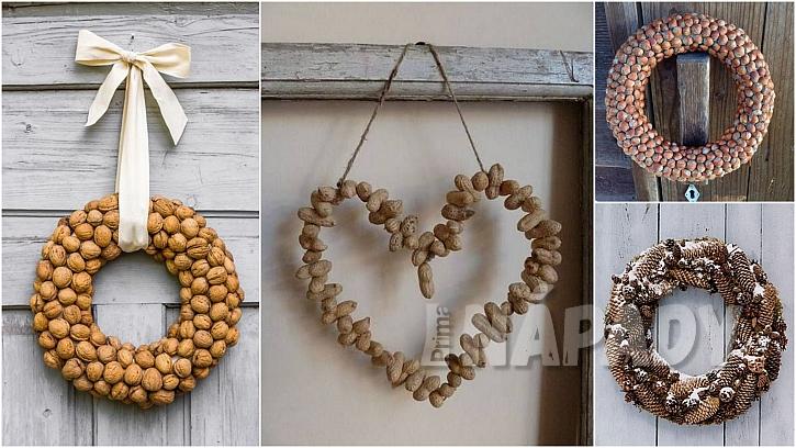 Vánoce ve stylu natur: tradiční věnce