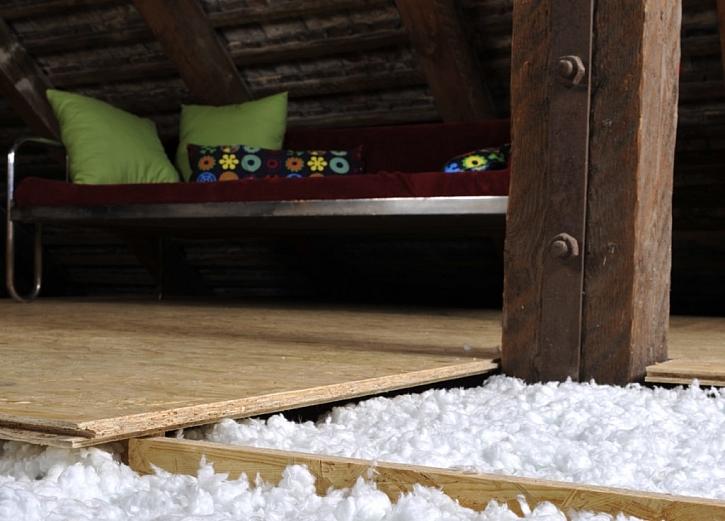 Zateplení podlahy na půdě má mnoho výhod