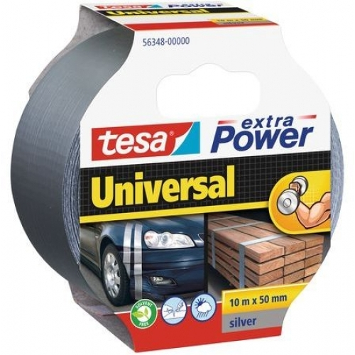 TESAOpravná páska Extra Power Universal, textilní, silně lepivá, stříbrná, 10m x 50mm