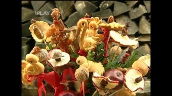 Vánoční dekorace: hrníčový vrkoč