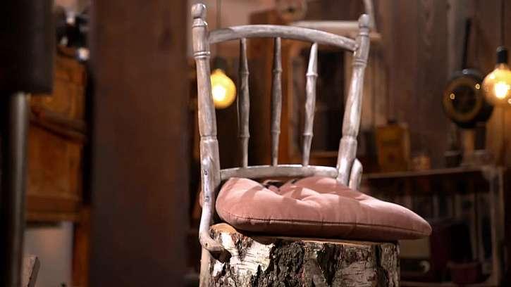 Vyrobte si vychytané posezení ze staré židle