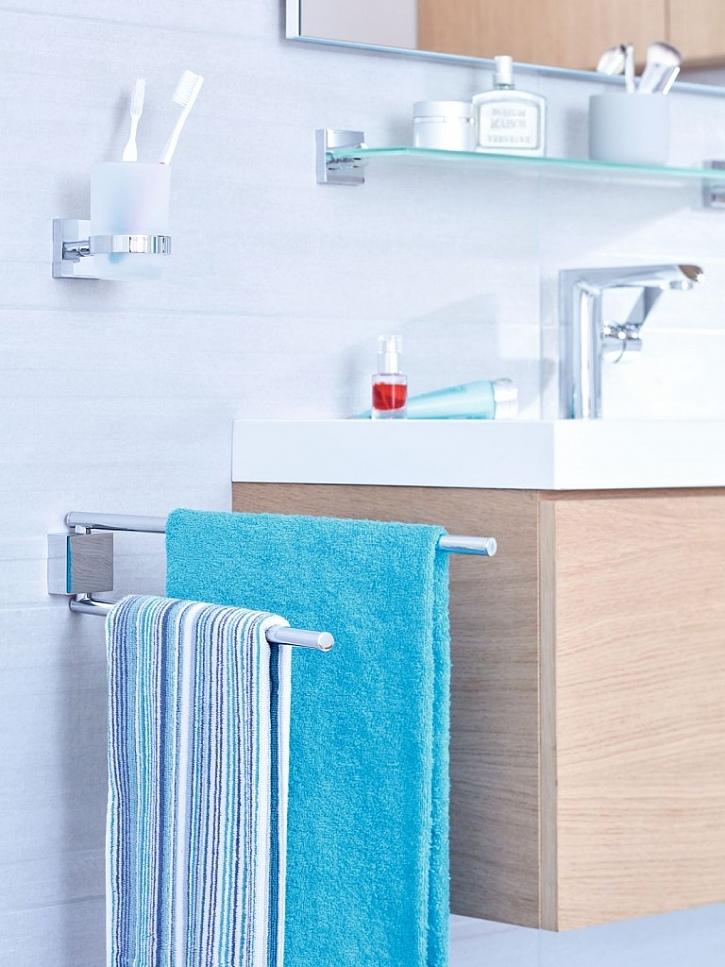 Koupelnové doplňky vytváří v koupelně tolik potřebný přehled a pořádek - každá věc má své správné místo