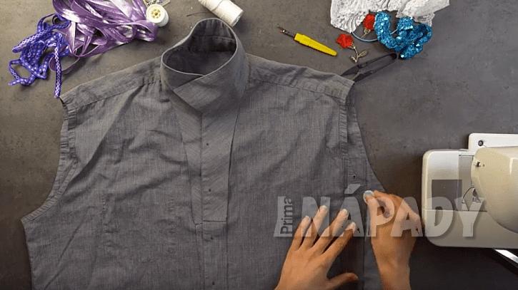 Letní dámská halenka: zkraťte a zužte košili