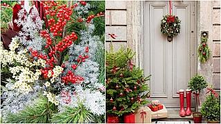 Vánoce přede dveřmi: Jak vyzdobit vstup do domu