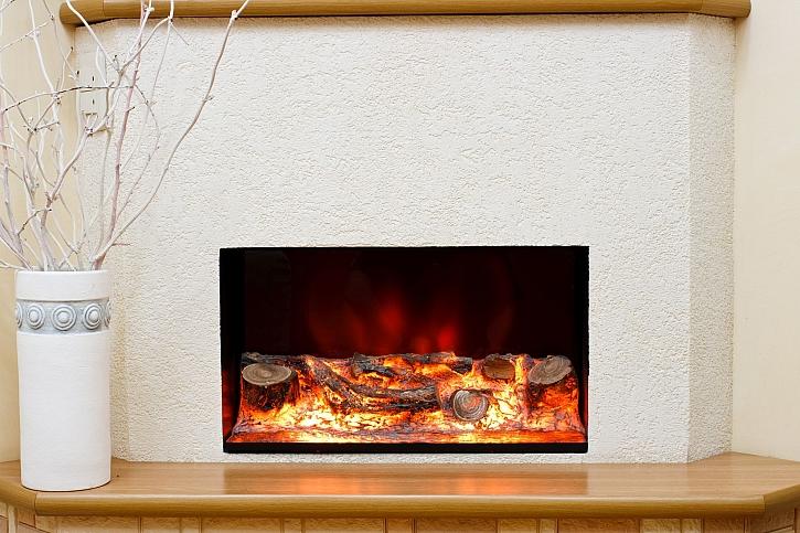 Elektrický krb bude krásným doplňkem našeho interiéru (Zdroj: Depositphotos)