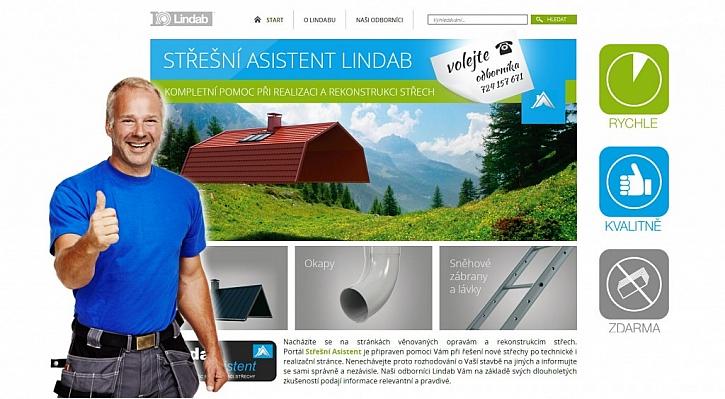 Nový internetový portál Lindab Střešní asistent