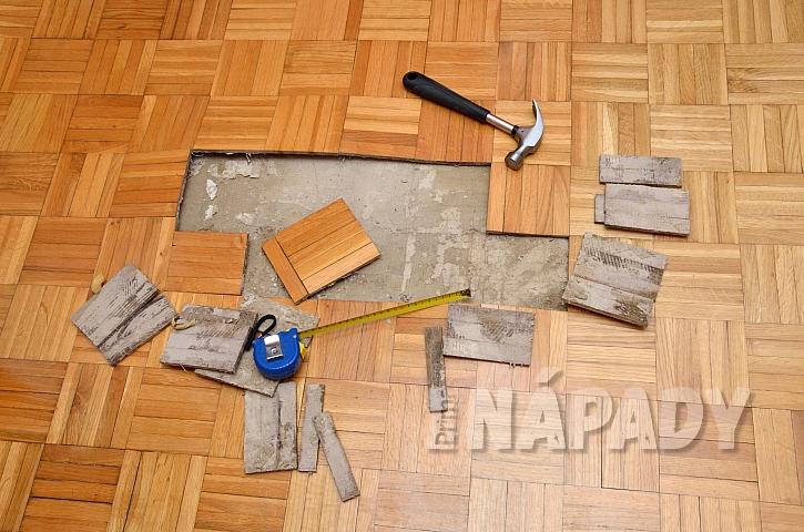 Rekonstrukce poškozené dřevěné podlahy