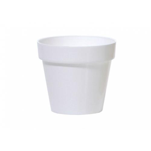 Květináč CUBE SHINE 11 cm, 0,6l, bílá DCUB110S