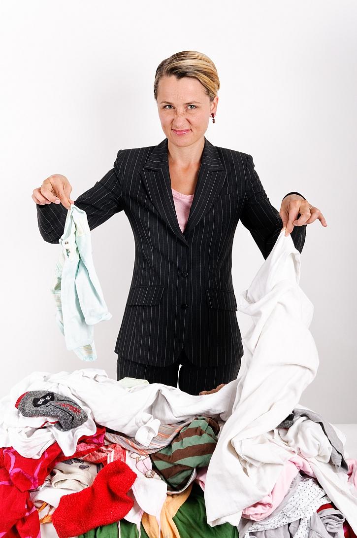 Špinavé prádlo, žena