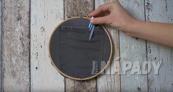 3 nápady na využití vyšívací obruče v domácnosti: Kapsička na psací potřeby