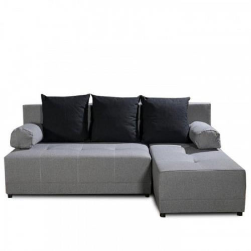 Rohová sedací souprava, šedá / černá, pravá, MEXX, Tempo Kondela
