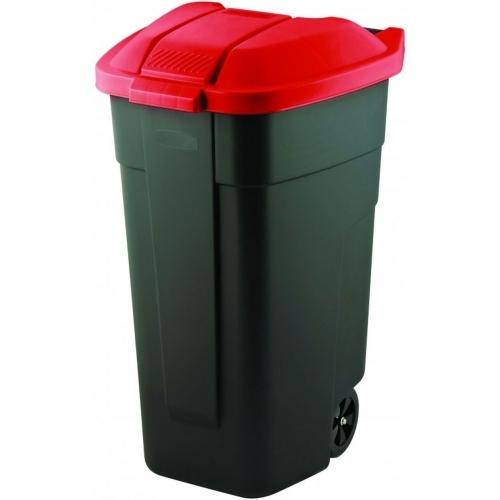 CURVER popelnice, 88 x 52 x 58 cm, 110 l, červená