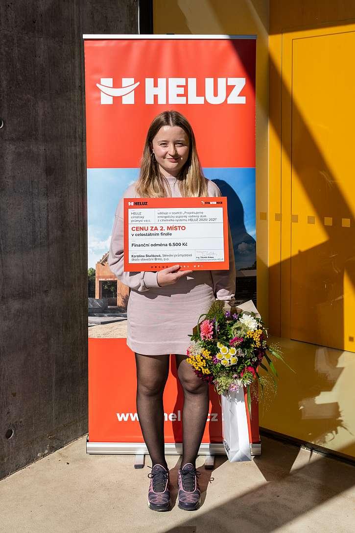 Druhé místo patří Karolíně Staňkové (Střední průmyslová škola stavební Brno p.o)