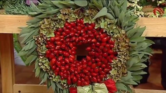Výroba dekoračních věnců z bylinek