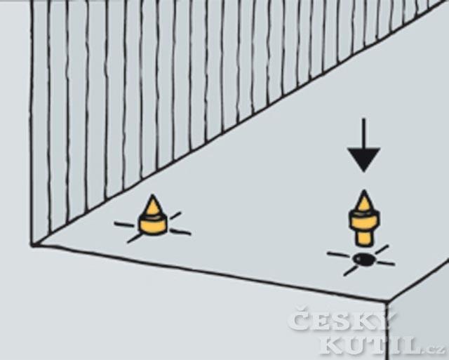 Montáž dřevěných schodnic na beton