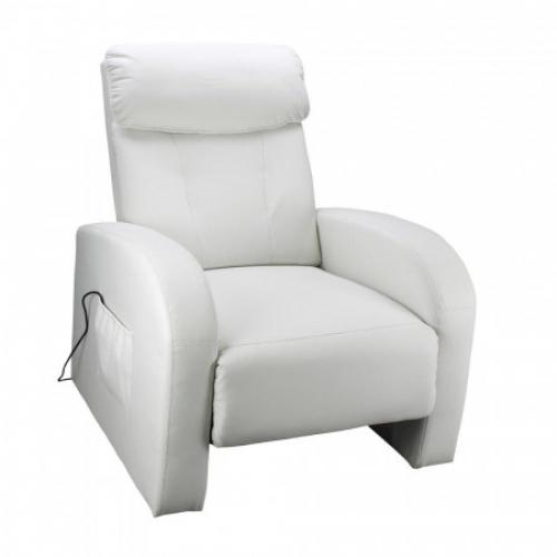 Masážní křeslo TOLEDO krémově bílé K70, IDEA nábytek