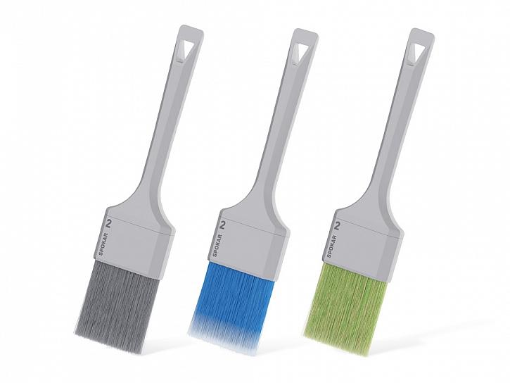 Štětce spokar nova šedá, modrá, zelená