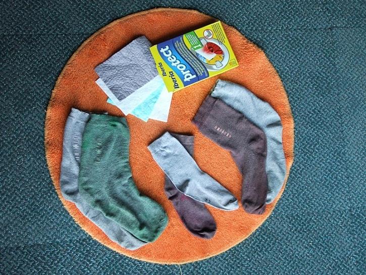 Konec obarvených ponožek