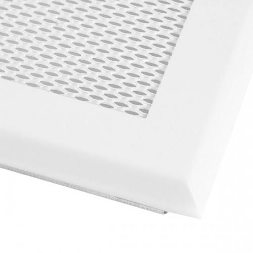 Krbová mřížka 16x32cm bílá