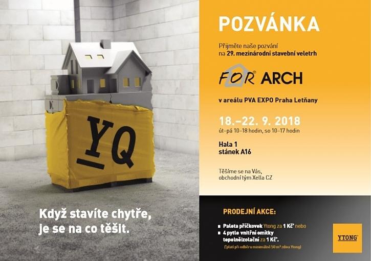 Panely Ytong to je rychlé zdění, přesvědčte se sami na veletrhu For Arch 2018