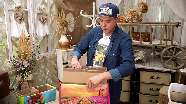 Zasazení krabice do tašky