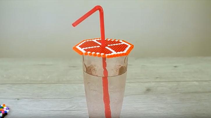 Víčko na skleničku jako plátek pomeranče