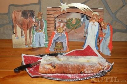 Vánoční štóla z tvarohu - nekynutá