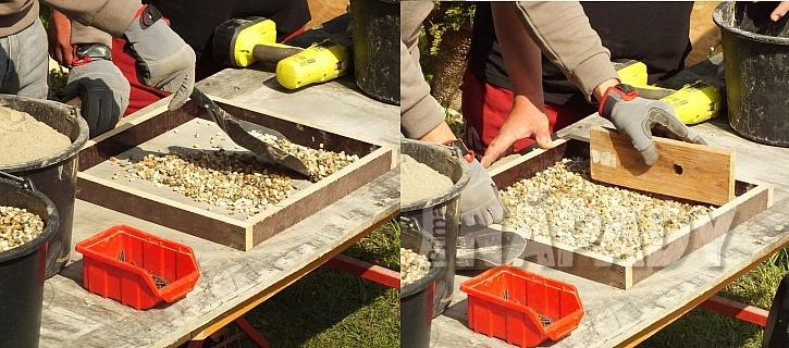 Rámeček musí být položený na rovném nepřilnavém povrchu