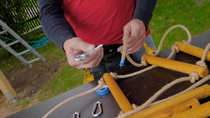 Jak vyrobit provazový žebřík - bonus