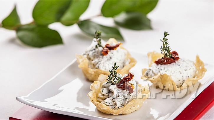 Recept na křupavé sýrové košíčky