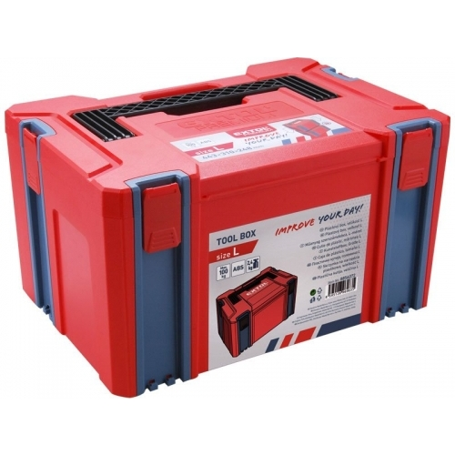 EXTOL PREMIUM plastový box veliksti L, rozměr 443x310x248mm, ABS