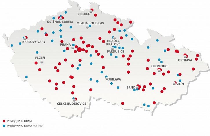 Záštitu nad projektem ProDům převzaly stavebniny PRO-DOMA, které disponují nejširší prodejní sítí v České republice.