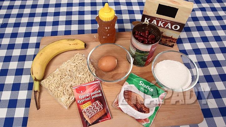 Recept na fazolové brownies: suroviny