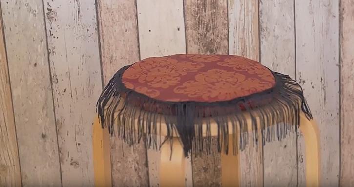 Podsedák na židli s třásněmi: Posaďte se na měkký a hřejivý polštářek