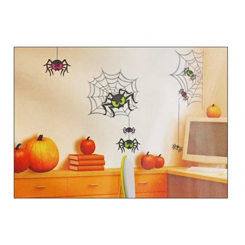 Anděl samolepící dekorace 599 pavouci 69x32cm