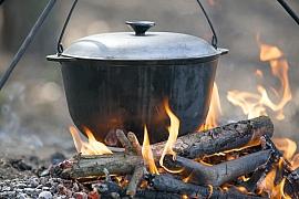 Jak se vaří ve venkovní kuchyni?