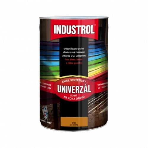 Industrol S2013 univerzál lesk vrchní barva na kov a dřevo, 6700 okr světlý, 4 l