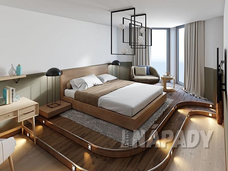 Stupínek v pokoji poskytuje úložný prostor navíc a opticky ho rozčlení (Zdroj: Depositphotos.com)