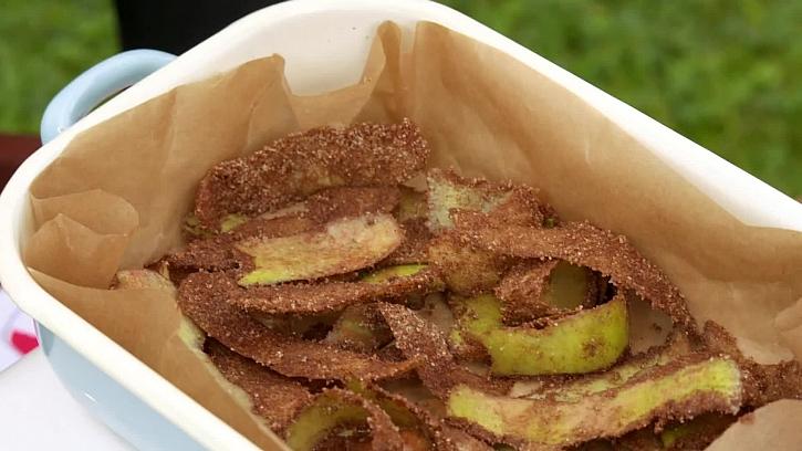 Jednoduché a zdravé jablečné chipsy