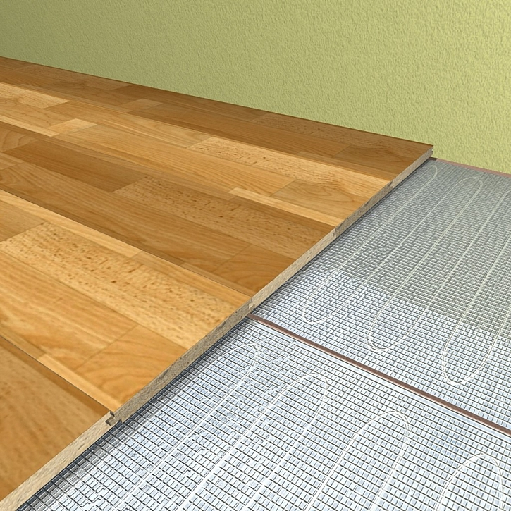 Mezi topnou rohož a podlahovou krytinu nevkládejte žádný izolační materiál.