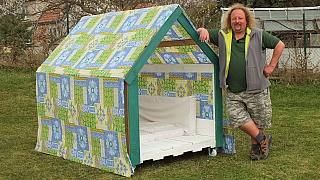 Zahradní domeček z palet: Udělejte dětem radost!