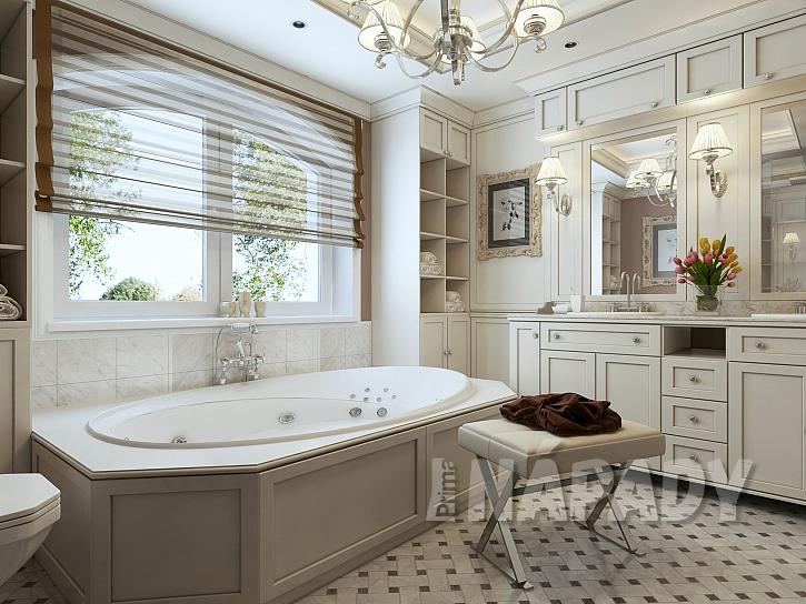Klasická koupelna s hydromasážní vanou