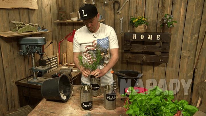 Jak si udělat závěsný květináč na bylinky 5