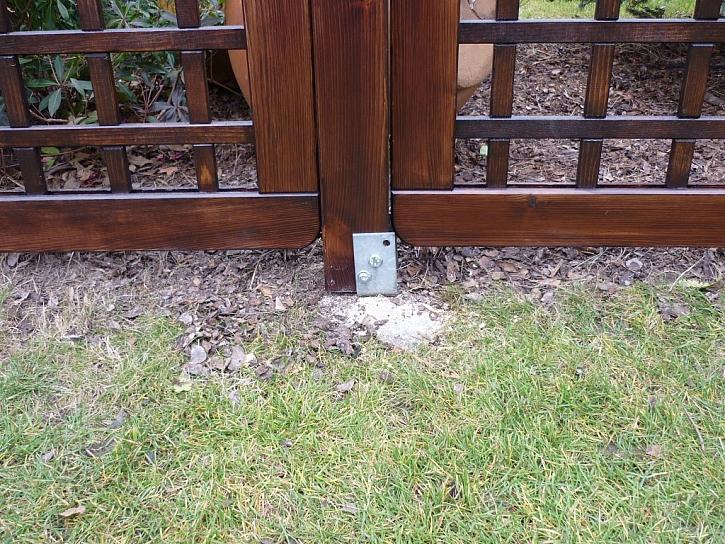 Kotvení dřevěných mříží