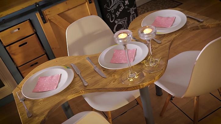 Vyrobte si s Pepou šikovný jídelní stůl